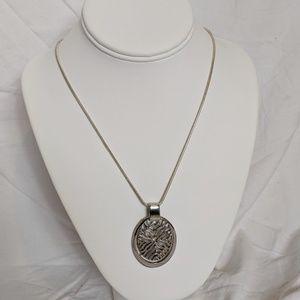 Vintage Modernist Pendant 925 Snake Chain Necklace